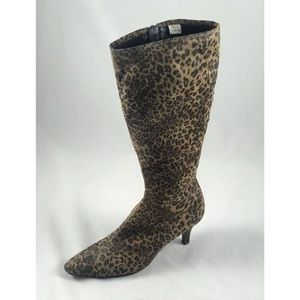 9.5 Anthony Leopard Impo Stretch Heel boot